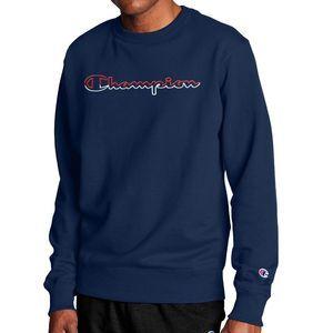 Champion Logo Navy Crewneck Sweatshirt Size XL